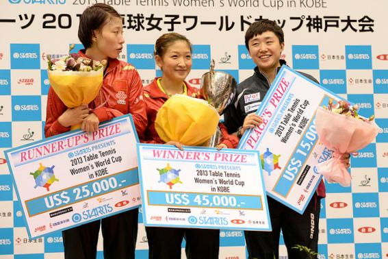 Все призеры женскогокубка мира по настольному теннису