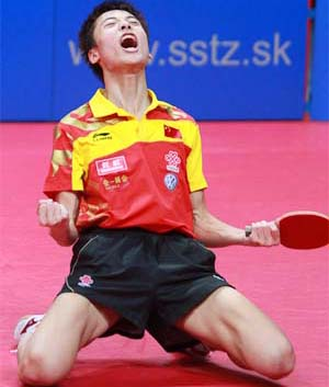 Song Hongyuan (Китай) - чемпион Volkswagen 2010 World Junior Table Tennis Championships