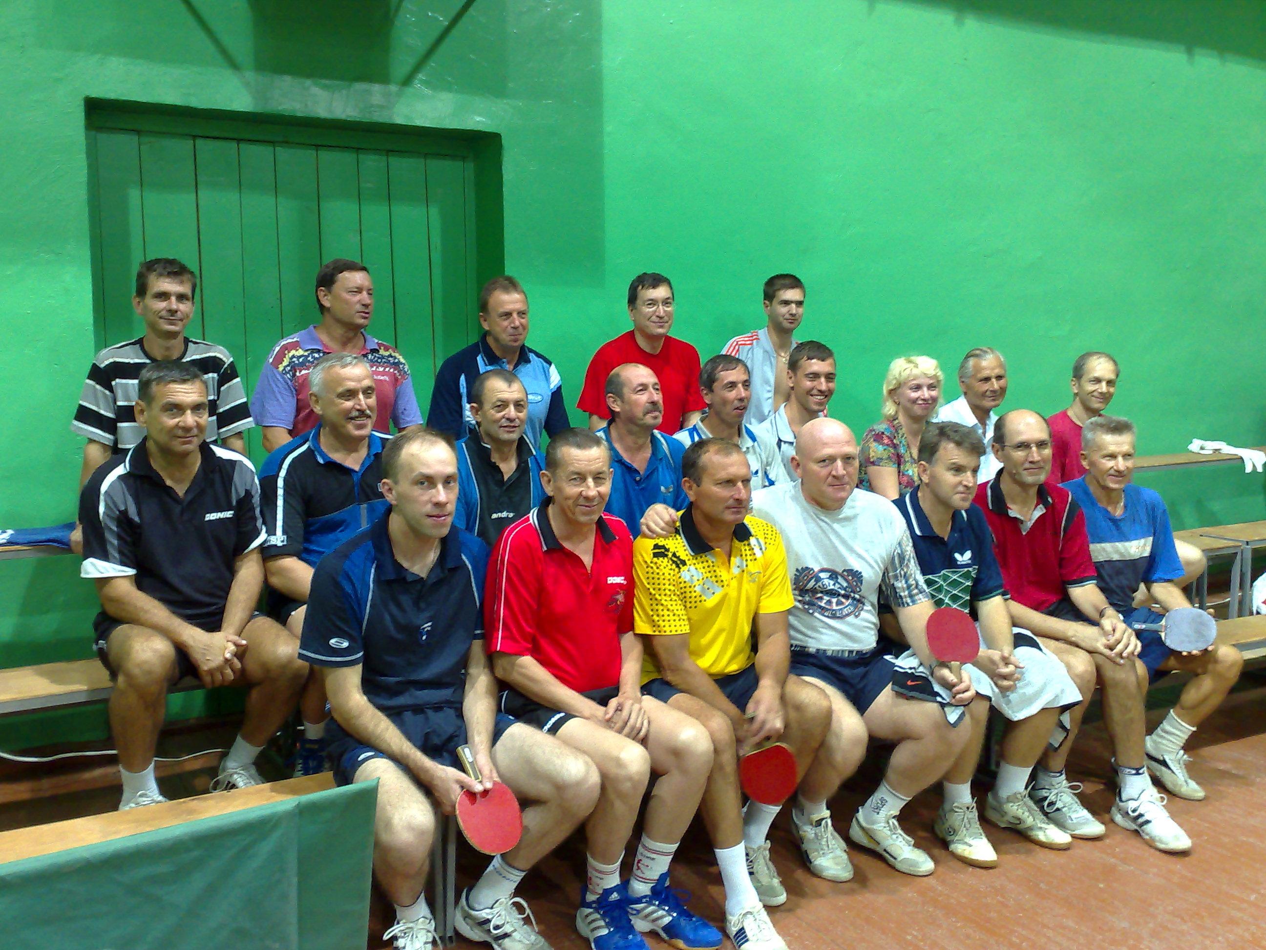 Международный турнир по настольному теннису среди ветеранов