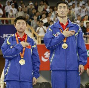 GUO Yue & WANG Liqin World Mixed Doubles Champions 2005
