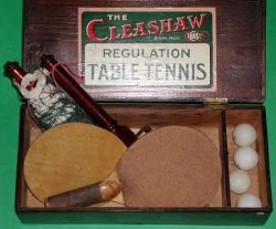 Один из первых наборов для настольного тенниса